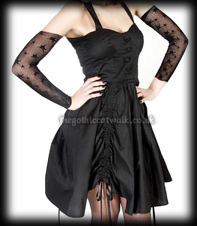Hell Bunny Black Channel Party Dress