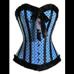 Rockabilly Pin Up Turquoise Polka Dot Corset