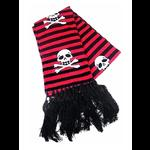 Gothic Punk Black & Red Striped Skull Scarf