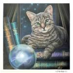 Tabby Cat & Crystal Ball Greetings Card