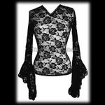 Black Rose Lace Gothic Top