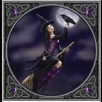 Gothic Witch Greetings Card