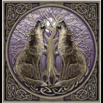 Howling Wolves Greetings Card