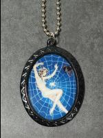 Gothic Cameo Necklace - Woman in Web