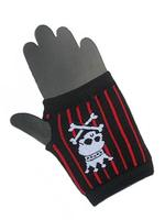 Gothic Punk Fingerless Gloves - Skull with Crown