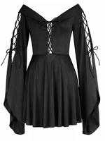 Gothic Medieval Style Black Blouse