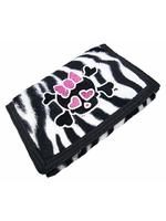 Zebra Skin Skull Punk Wallet Purse