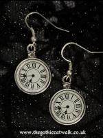 Steampunk Miniature Clock Earrings