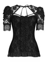 Black Lace Shrug Style Gothic Top