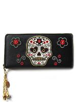 Banned Wallet with White Sugar Skull