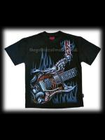 Gothic Metal Air Guitar Kids' T-Shirt
