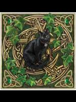 Black Cat Greetings Card # 2