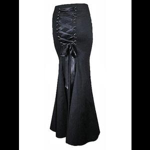 da3deede97 Plus Size Long Black Gothic Fishtail Corset Skirt | Plus