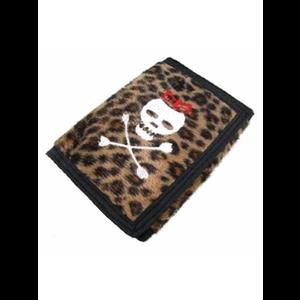 Leopard Skin Skull Punk Wallet Purse #2