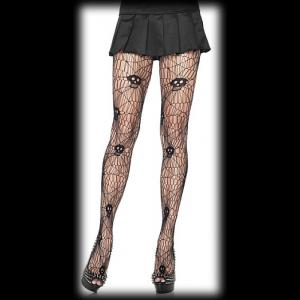 Cobweb & Skull Gothic Tights