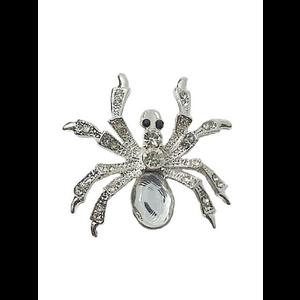 Gothic Brooch - Crystal Spider