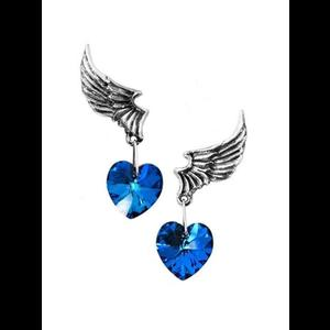 El Corazon Winged Heart Earrings by Alchemy