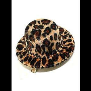 ef2510adb58fb Gothic Burlesque Leopard Print Mini Hat Hair Clip