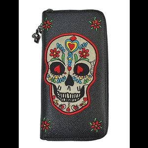 Colourful Sugar Skull Wallet by Banned