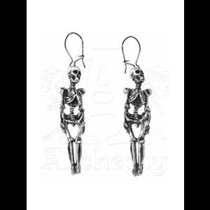 Pewter Skeleton Earrings by Alchemy Gothic