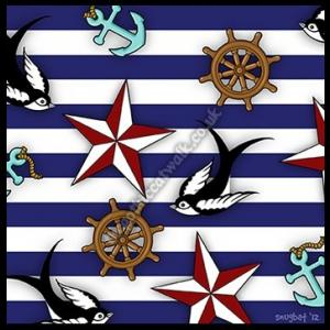 Rockabilly Pin Up Greetings Card - Nautical